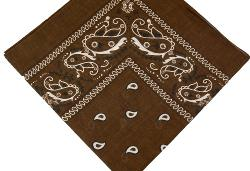 "ACCmall - 100% Cotton Paisley Bandanas ""Brown"" Double Sided Head Wrap Headscarf 10pcs"