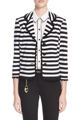 St. John Collection - Stripe Milano Knit Jacket