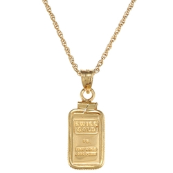 Overstock - Ingot Pendant Necklace