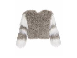Charlotte Simone  - Classic Fuzz Shearling Bomber Jacket