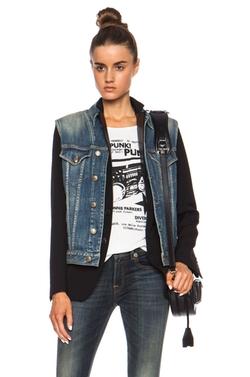 R13 - Layered Denim Vest & Wool Jacket