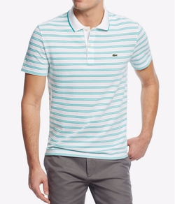 Lacoste - Pique Jersey Striped Polo Shirt