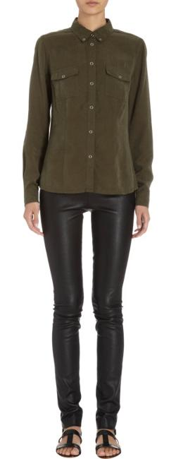 Barneys New York  - Snap Button Military Shirt