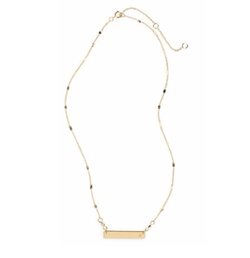 Stephan & Co - Initial Bar Necklace