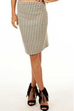 Black Swan - Houndstooth Pencil Skirt