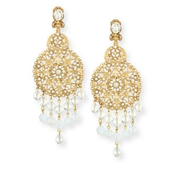 Oscar de la Renta - Filigree Disc Drop Chandelier Earrings