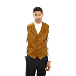 SixStarUniforms - Rust Suede Dress Vest