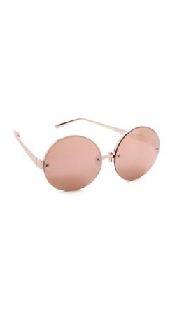 Linda Farrow Luxe - Round Sunglasses