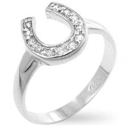 Ella Dior - Horseshoe Cz Ring