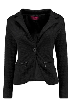 Boohoo - Lexi Jacquard Zip Pocket Button Blazer