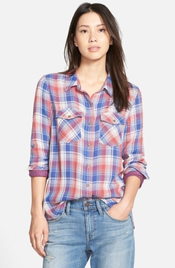 Treasure&Bond - Cotton Plaid Shirt
