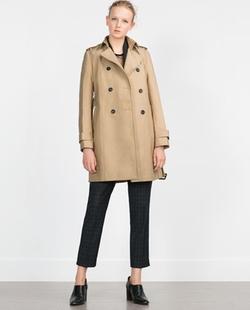 Zara - Water Repellent Cotton Raincoat