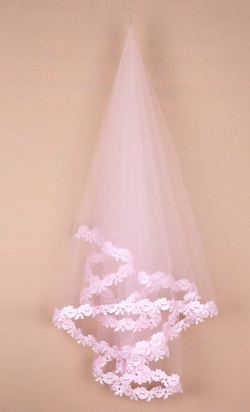Ubumo - Single Layer Style Lace Veil