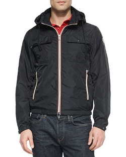 Moncler - Lyon Hooded Wind-Resistant Jacket