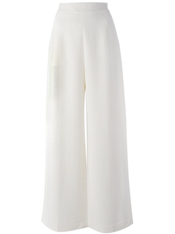 Rosetta Getty   - Textured Wide Leg Trousers