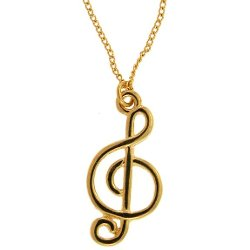 Girl Props - Treble Clef on Chain
