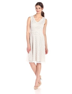 Kasper  - Lace V-Neck Drop Waist Dress