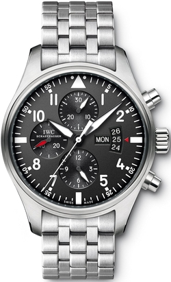 IWC - Pilots Chronograph Automatic Stainless Steel Mens Watch Iw377704