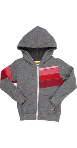 Aviator Nation - Stripe Zip-Front Hoodie