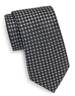 Saks Fifth Avenue - Boxed Diamond Silk Tie