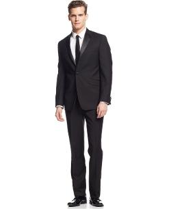 Kenneth Cole Reaction - Slim-Fit Black Tuxedo Suit