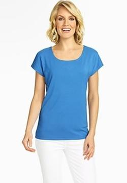 Talbots - Platinum Jersey Cap Sleeve Shirt