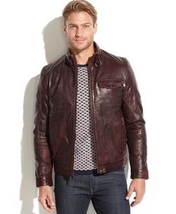 Emanuel Ungaro - Leather Wind-Resistant Moto Jacket