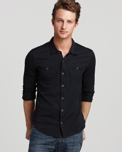 John Varvatos - Button-Front Knit Sport Shirt - Slim Fit