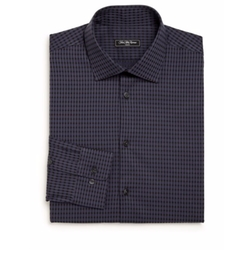 Saks Fifth Avenue Collection - Regular-Fit Checked Cotton Dress Shirt