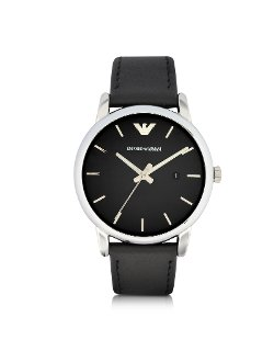 Emporio Armani  - Leather Strap Watch