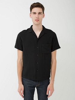 American Apparel - Camp Collar Button Down Short Sleeve Shirt