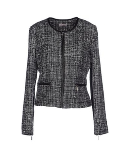 Twenty Easy By Kaos - Round Collar Tweed Blazer