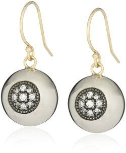 Mizuki - Diamond Evil Eye Ball Earrings