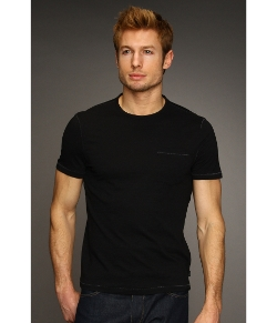 John Varvatos Star U.S.A. - Vertical Pick-Stitch Crew Neck T-Shirt