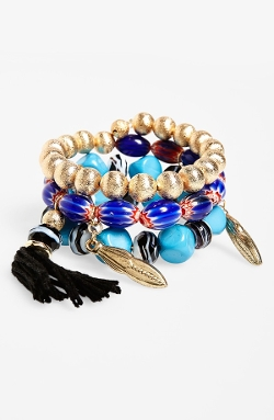 Spring Street - Boho Coil Bracelet with Tassel