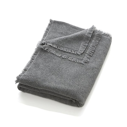 Crate & Barrel - Fringe Grey Bath Sheet