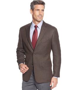 Greg Norman for Tasso Elba - Textured Solid Sport Coat