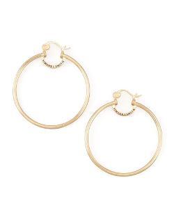 Simone I. Smith   - Yellow Gold Everlasting Hoop Earrings