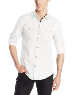 Calvin Klein Jeans - Ripstop Woven Button-Front Shirt
