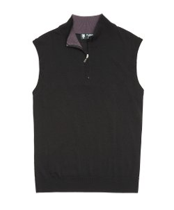 Brooks Brothers - Lightweight Saxxon Wool Half-Zip Vest