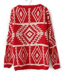 Chicnova - Aztec High Low Sweater