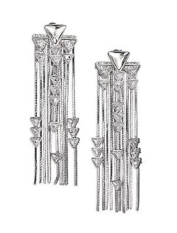 Ca&Lou - Crystal & Chain Fringe Earrings