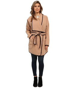Vince Camuto - Soft Collar Belted Plush Coat