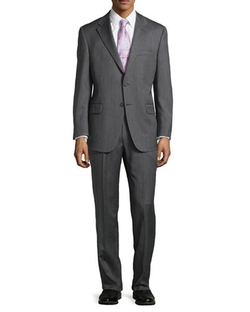 Hickey Freeman  - Herringbone Two-Piece Suit
