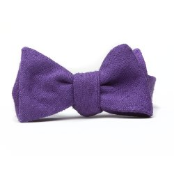Pino  - Periwinkle Raw Silk Bow Tie