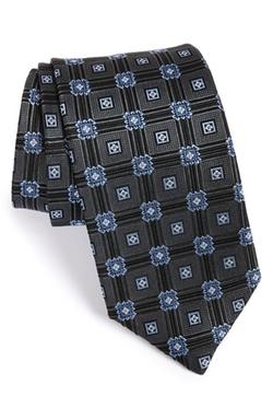 J.z. Richards - Geometric Medallion Woven Silk Tie