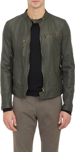 Tomas Maier - Leather Moto Jacket