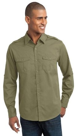 Port Authority  - Stain Resistant Roll Sleeve Shirt Jacket