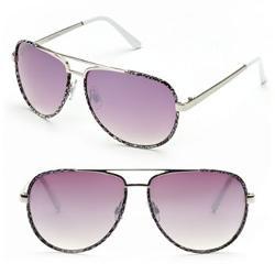 Daisy Fuentes  - Snakeskin Aviator Sunglasses