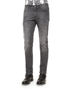Versace Collection   - Stone-Washed Denim Jeans
